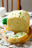 Sour cream chive bread .style rustic Stock Photos