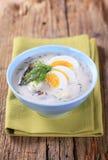 Sour cream soup Stock Photos