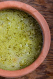 Sour gherkin soup. Royalty Free Stock Photo