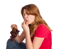 Sour grapes Royalty Free Stock Images