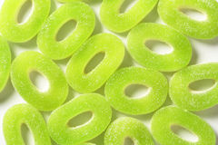 Sour gummy apple rings Royalty Free Stock Photography
