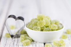 Sour gummy candy (apple taste) Royalty Free Stock Image