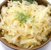 Sour kraut. Some fresh white sour kraut Royalty Free Stock Photos