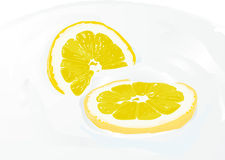 Sour lemon Royalty Free Stock Photos