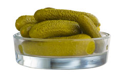 Sour pickled gherkins