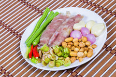 Sour pork and roasts stock image