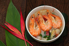 Sour prawn soup is Thai food. Stock Photography
