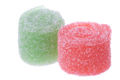Sour Roll Candies Macro Isolated Stock Image