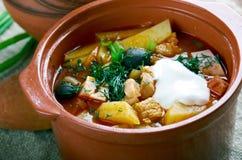 Sour Russian soup Stock Photo