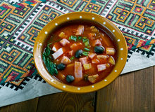 Sour Russian soup Stock Image
