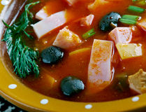 Sour Russian soup Royalty Free Stock Images