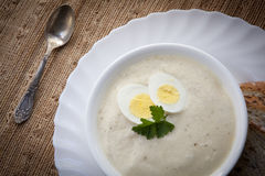 Sour rye soup for easter (zurek) Stock Images