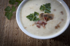 Sour rye soup for easter (zurek) Stock Photo