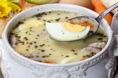 The sour rye soup Royalty Free Stock Photography