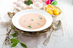 Sour rye soup Royalty Free Stock Photos