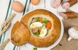 Sour rye soup Stock Photos