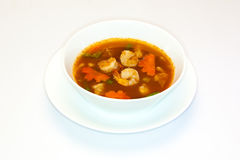 Sour shrimp soup made of tamarind paste Stock Images