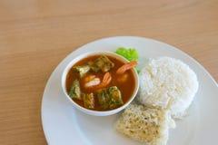 Sour soup acacia shrimp Royalty Free Stock Photography