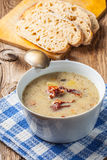 Sour soup with bread. Royalty Free Stock Photography
