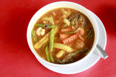 Sour soup made of tamarind paste. Stock Image