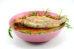 Sour soup made of tamarind paste with fish Royalty Free Stock Image