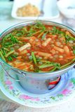 Sour soup made of Tamarind Paste Stock Photo