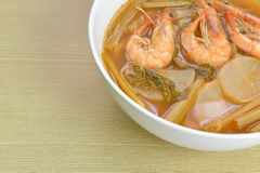 Sour soup made of tamarind paste, Thai food Stock Image