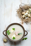 Sour soup spiced with marjoram Stock Photography