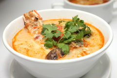 Sour and Spicy soup with Prawn Royalty Free Stock Image