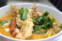 Sour and Spicy soup with Prawn Royalty Free Stock Photo