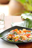 Sour & spicy vermicelli salad with prawn Royalty Free Stock Images