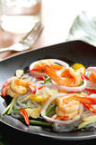Sour & Spicy Vermicelli Salad With Prawn Royalty Free Stock Photo