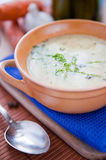 Sour and tasty cucumber soup Stock Image