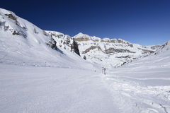 Sourasas ski run and Piz Boe', Arabba Royalty Free Stock Photography