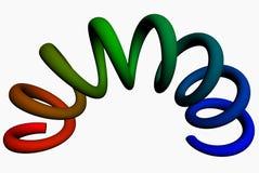 source 3d oblongue colorée Photos libres de droits