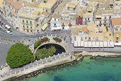 The source of Arethusa in Syracuse Sicily Stock Photos