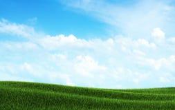 source bleue de ciel d'horizontal Photographie stock libre de droits