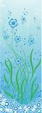 source bleue de fleurs Photographie stock