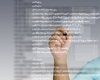 Source code. Hand write a html source code Royalty Free Stock Photography