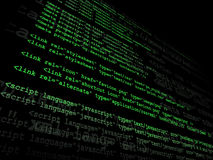 Source code. Technology concept in green Stock Photos