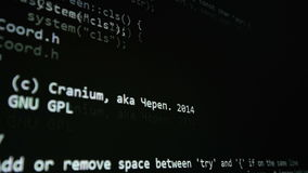 Source code on computer screen. Cybersecurity concept. stock video
