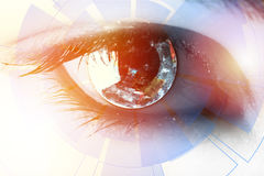 Source code in the eye Stock Photography