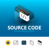 Source code icon in different style Royalty Free Stock Image