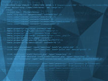 Source code technology background Stock Image