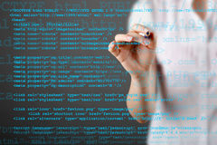 Source code technology background Royalty Free Stock Photos