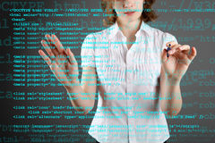 Source code technology background Royalty Free Stock Images