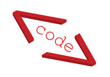 Source code - vector Stock Photo