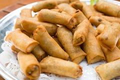 Source cuite à la friteuse Rolls image libre de droits