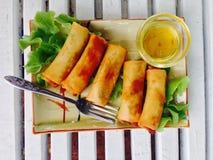 Source cuite à la friteuse Rolls Image stock