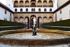 Source d'Alhambra Images libres de droits